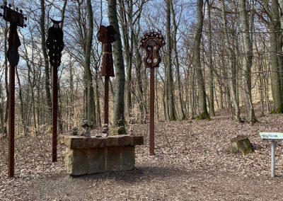Keltischer Skulpturenweg - Gastmahl-Masken