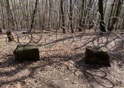 Keltischer Skulpturenweg - Raum-Doppelspiralen